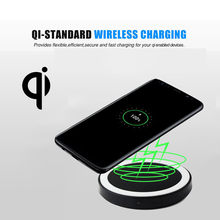 Universal Wireless Fast Charging Pad For Samsung S8 S9 5W Portable Charging For IPhone Xs Max XR X 8 Plus QI Wireless Charger(China)