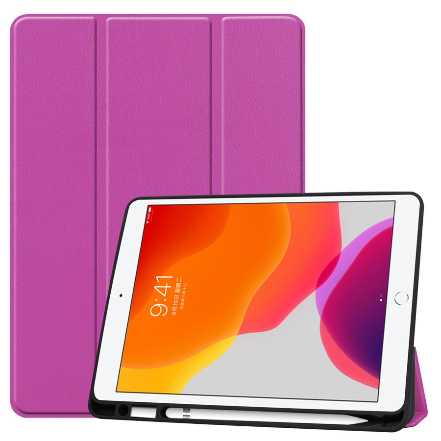purple Gold Magnetic PU Leather Case For Apple iPad 10 2 2019 with Pencil Holder Cover For iPad