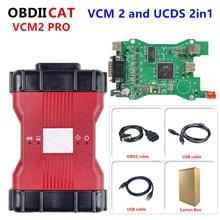 يتضمن VCM2 Pro الأصلي الجديد VCM 2 و UCDS جميع الوظائف VCM2 IDS V122 و UCDS V2.0.7.1 لأداة تشخيص Fo rd OBD2