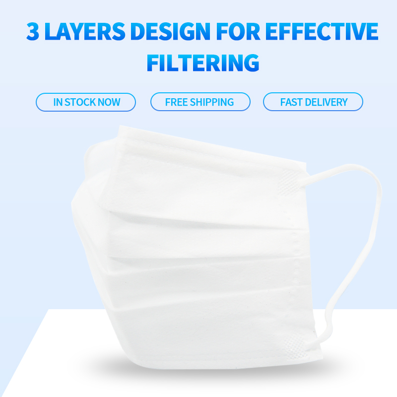 10/20/50/100pcs Disposable Face Mask In Stock Fast Shipping White Non Woven Disposable Anti-Dust Masks Face Mouth Masks