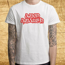 Amon Amarth Death Metal Band Logo Men'S White T-Shirt Size S M L Xl 2Xl 3Xl(China)