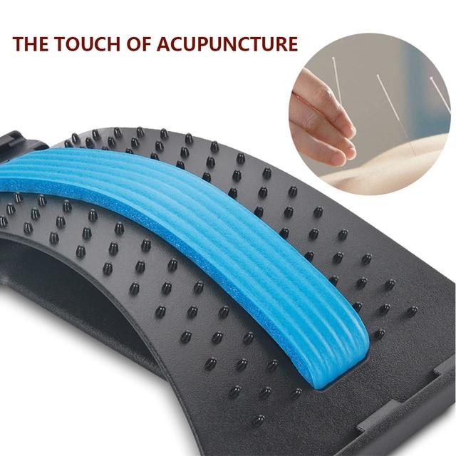 Back Massager Stretcher Equipment Massage Tools Massageador Magic Stretch Fitness Lumbar Support Relaxation Spine Pain Relief 1