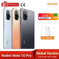 Versione globale Xiaomi Redmi Note 10 Pro Smartphone Snapdragon 732G 108MP Quad Camera 120Hz NFC cellulare 6.67