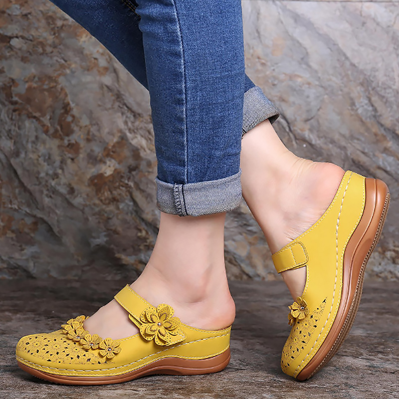 Women's Sandals Flower Summer Beach Shoes Ladies Comfort Hollow out Round Toe Sandals Large Size Platform sandals