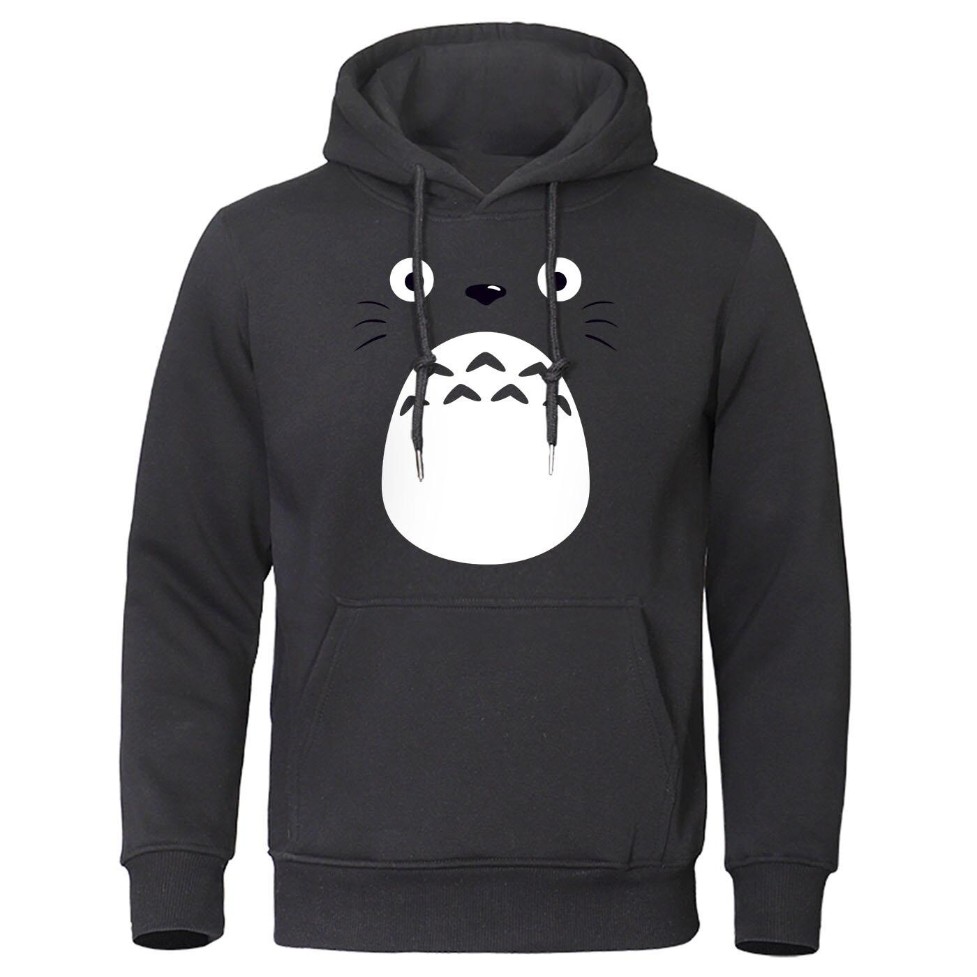 Spirited Away Totoro Men Hoodies Miyazaki Hayao Cartoon Clothes Japan Anime Pullover Studio Ghibli Hooded Sweatshirt Streetwear