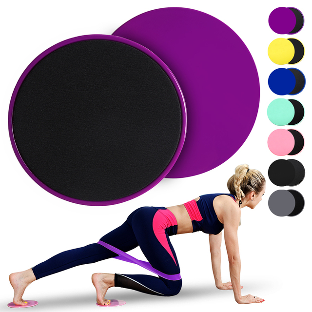 2PCS Exercise Core Sliders With Resistance Band