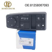 Power Window Lifter Control Switch Fits For MAN Truck parts Man TGS TGX TGL TGM LHD Driver Side 81258067093