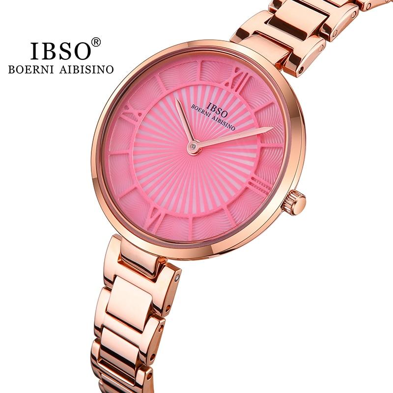 IBSO Minimalist Watch Women's  luxury Fashion Casual Ultra Thin Watches Simple women Candy colors Mesh Belt Quartz Watch