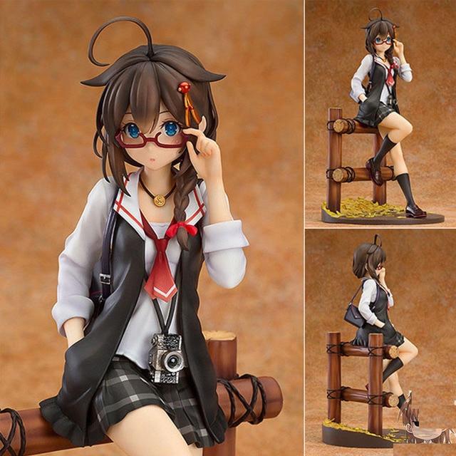 Hot 14CM Anime figures cute Girl Cat Maid Misaki Kurehito PVC action figure collection model toy  anime figure dolls