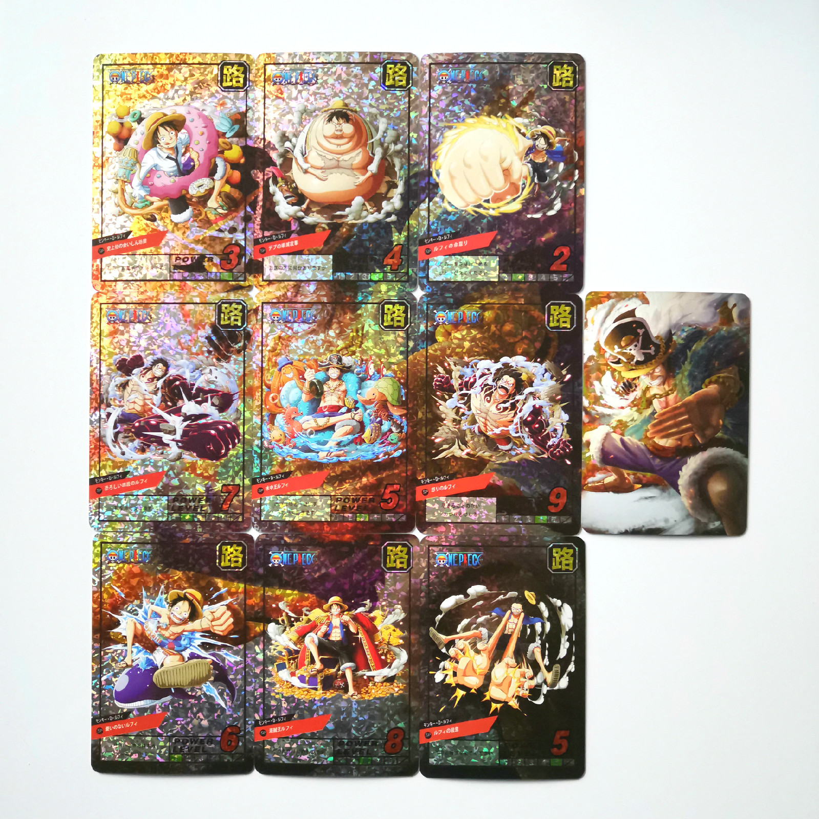 10pcs/set ONE PIECE Luffy Toys Hobbies Hobby Collectibles Game Collection Anime Cards