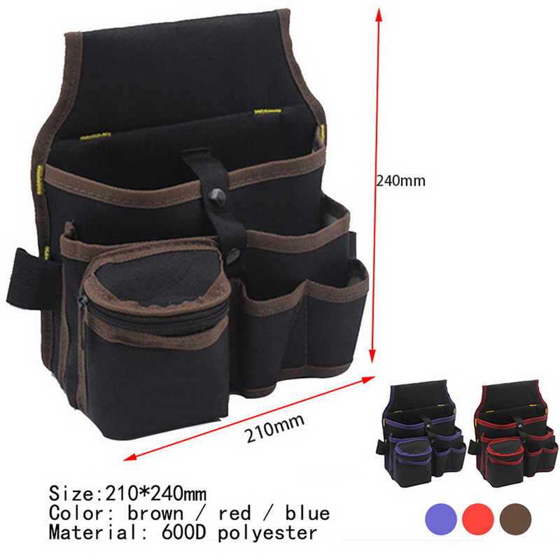 Belt Waist Pocket Case High Capacity Tool Bag Waist Pockets Electrician Tool Bag Oganizer Carrying Pouch Tools Bag