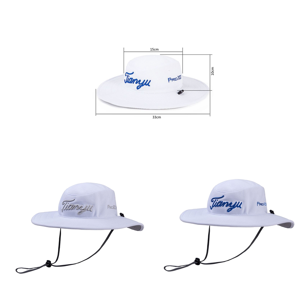 1PC Unisex Tour Bucket Hat Mesh Wide Brim Sun Protection for Golf Fishing Rock Climbing