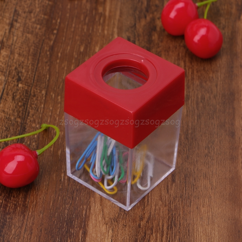 1Pc Magnetic Clip Dispenser Paper Holder Square Box Case Fashion  Clips Dispenser Office And School Supplies Au13 19 Droship