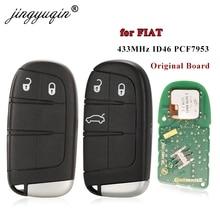 Jingyuqin 2/3 bouton clé à distance intelligente 433MHz ID46 PCF7953 puce pour Fiat Ottimo 500L télécommande dorigine usine pièces dorigine