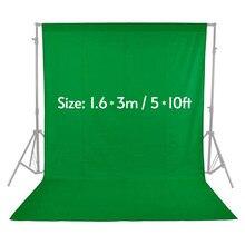 Yeşil ekran arka planında fotoğraf stüdyosu için Nonwoven Muslin polyester pamuk beyaz siyah yeşil düşkün Photographie arka plan