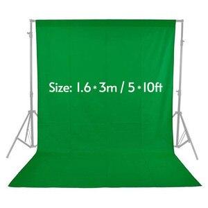 Image 1 - 緑色の画面の背景スタジオ不織布モスリンポリエステル綿白黒緑好きphotographie背景