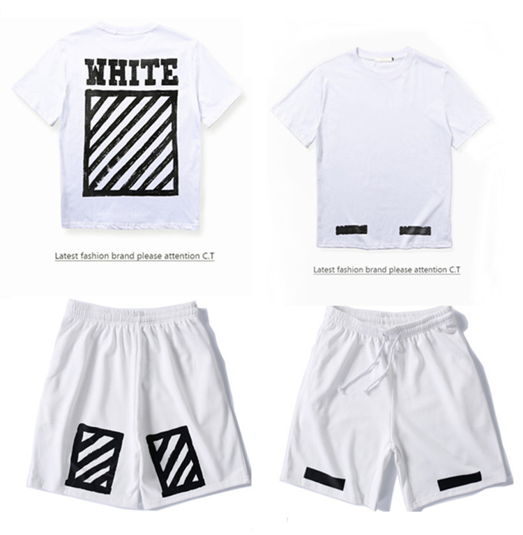 2019 Men Summer Wear New Style Street Fashion And Personality Cordon Teenager Trend Set Tops Shorts