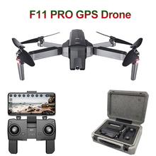 SJRC F11 PRO GPS zdalnie sterowany dron Quadcopter z 2K kamera HD szeroki kąt 5G Wifi FPV 28min lot bezszczotkowy helikopter Selfie drony tanie tanio HGIYI 2 7 K HD Nagrywania Wideo Kamera w zestawie Brak 600M(Free interference and no occlusion) Naprawiono ostrości 4 kanałów