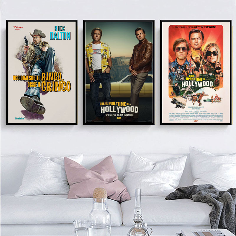 Once Upon A Time In Hollywood Quentin Tarantino New  Movie Art Painting Canvas Vintage Poster Wall Home Decor