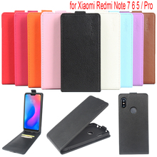 Litchi Flip leather Case For Xiaomi Redmi Note 7 Pro 5 Global Version Phone Bag 6 TPU Cover
