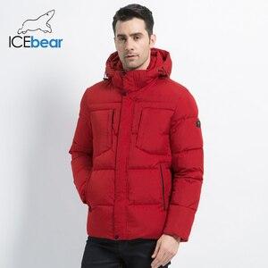 Image 1 - 2019 novo inverno jaqueta masculina de alta qualidade casaco homem com capuz roupas masculinas casuais roupas algodão marca vestuário mwd19601d