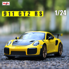 Maisto 1:24 Porsche 911GT2RS Roadster simulation alloy car model simulation car decoration collection gift toy цена