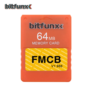 Image 2 - Bitfunx 64メガバイトのメモリカードPS2 fmcb送料mcboot opl保存ゲームPlaystation2レトロビデオゲームコンソール紫、青マルチカラー