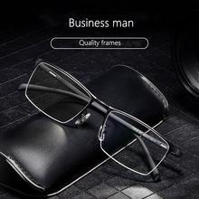 Мужская деловая оправа для очков светильник Удобная из титанового