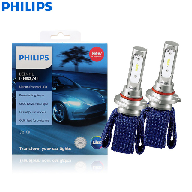 Philips Ultinon Ätherisches LED 9005 9006 HB3 HB4 12V 11005UEX2 6000K Auto LED Scheinwerfer Auto HL Strahl ThermalCool (Twin Pack)