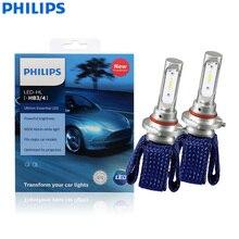 פיליפס Ultinon חיוני LED 9005 9006 HB3 HB4 12V 11005UEX2 6000K רכב LED פנס אוטומטי HL קרן ThermalCool (חבילת תאומים)