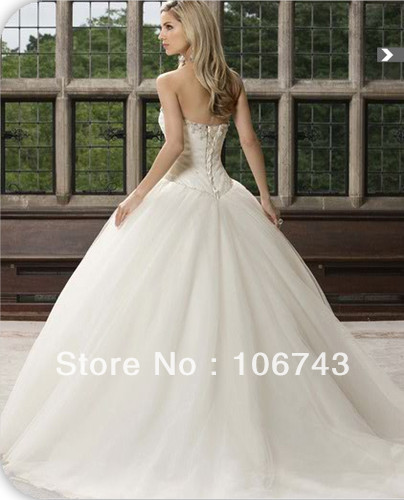 2016 Floor-length lace Up Special Offer free Shipping New Best Seller Sexy Bride ball gown Custom Size Crystal Wedding Dresses