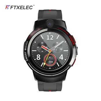 New 4G smart phone ceramic dual camera wifi card heart rate positioning adult GPS sports smart watch