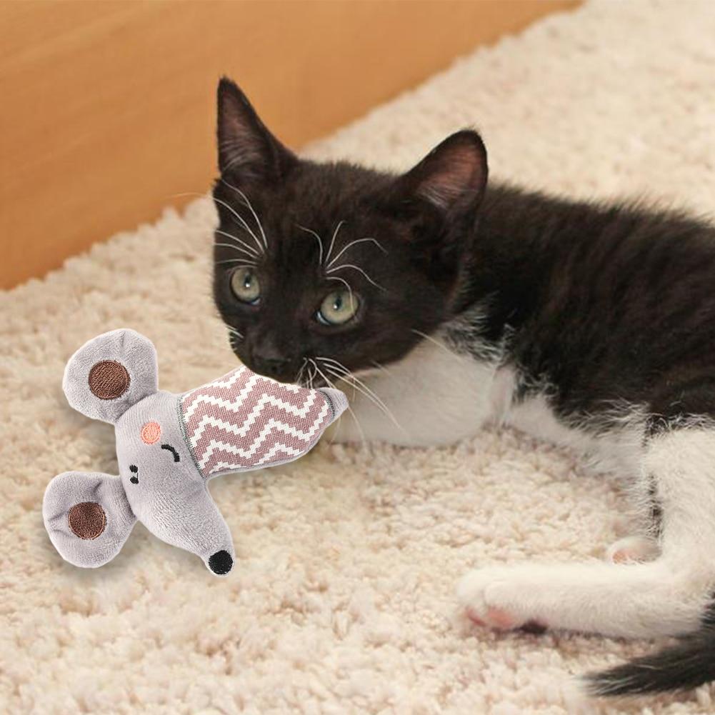Тренинг Собаки ловкость игрушки Поставки Забавный Кот игрушка, прекрасная маленькая белая игрушка плюшевая зверушка-мята Дразнилка для котенка играть интерактивная игрушка-2