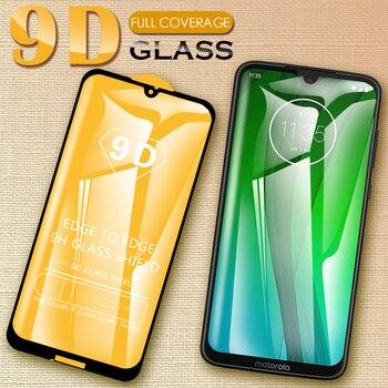 Перейти на Алиэкспресс и купить 9D защитное стекло пленка полное покрытие протектор экрана закаленное стекло для Motorola Moto G8 G7 Power G6 E6s E6 E5 Plus Play