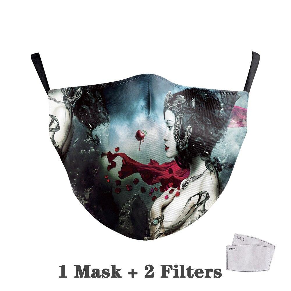 Washable Big Mouth Skull Face Masks 36