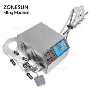 Image 5 - ZONESUN 6 דיזות נוזלי בקבוק בושם מים מיץ חיוני שמן חשמלי בקרה דיגיטלית משאבת נוזל מכונת מילוי אספקת