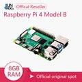 Novo original oficial raspberry pi 4 modelo b ram 2g4g8g 4 núcleo 1.5ghz 4k micro hdmi pi4b 3 velocidade do que raspberr pi 3b +