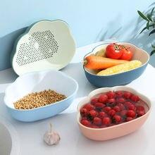 Пластиковая сливная корзина кухонная для хранения овощей двойные