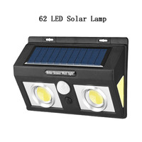 62 LEDs Solar Light Outdoor Solar Lamp PIR Motion Sensor Wall Light Waterproof Solar Powered Sunlight For Garden Light