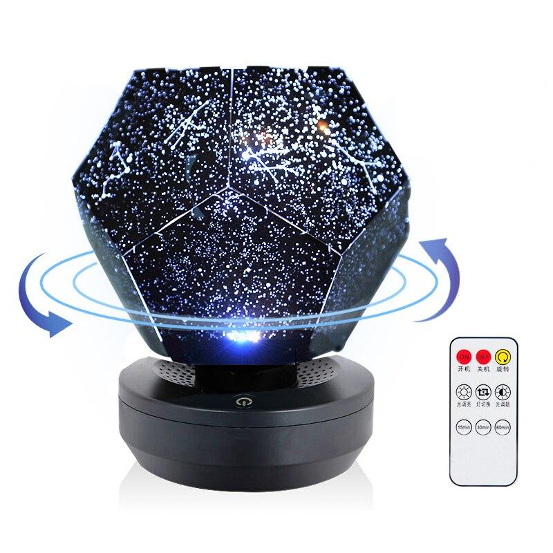 Galáxia projetor luz da noite led estrelado projetor estrela luz para decoração do quarto lâmpada diy presente para aniversário natal nightlight