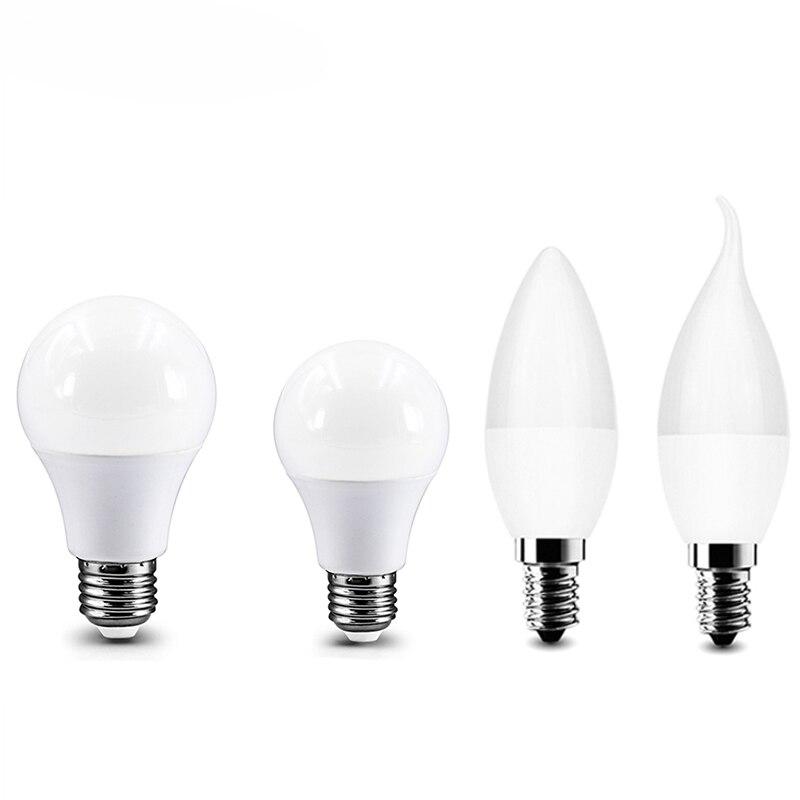 Bombilla LED Bulb Lamp E27 Real Power 3W 6W 9W 12W 15W 18W 20W 220V Candle Light E14 High Brightness Lampada LED Bulb Spotlight