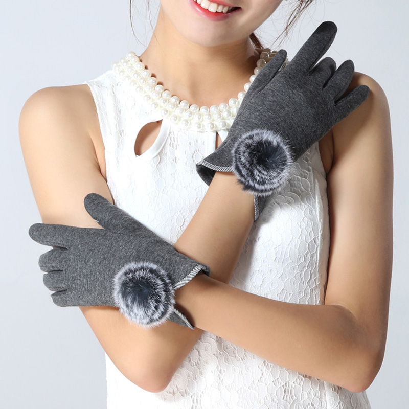 Winter Women Gloves Hand Mittens For Female Wool Ladies Knitted Cashmere Wrist Luva Hand Car Driving Gloves Guantes Touch Screen