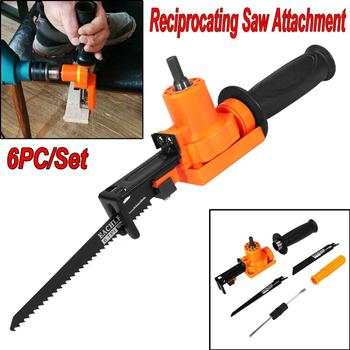 Reciprocating Saw Attachment Adapter Change Electric Drill Into Reciprocating Saw For Wood Metal Cutting portable rechargeable reciprocating saw wood cutting saw 20v 3000mah electric wood metal plastic saw