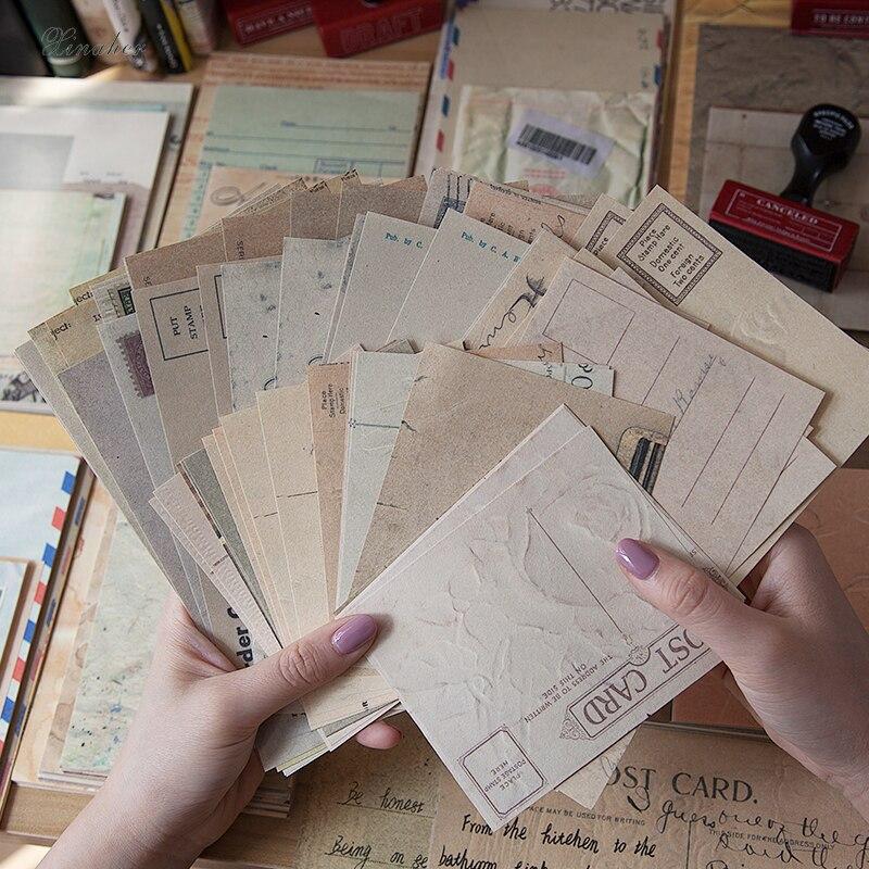 60 шт./компл. старые страницы в старинном стиле из материала, дневник нежелательной еды, винтажная фотобумага