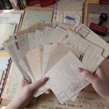 60pcs/set Old Antique Pages Material Paper Junk Journal Planner Scrapbooking Vintage Decorative DIY Craft Background Paper