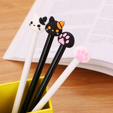 1 Pieces Cartoon Cat Claw Kawaii School Supply Office Stationery Gel Pen Handles Creative Cute gift 1 pcs 0 5mm new arrival cute cheese cat gel ink pen promotional gift stationery kawaii school office supplies supply fod