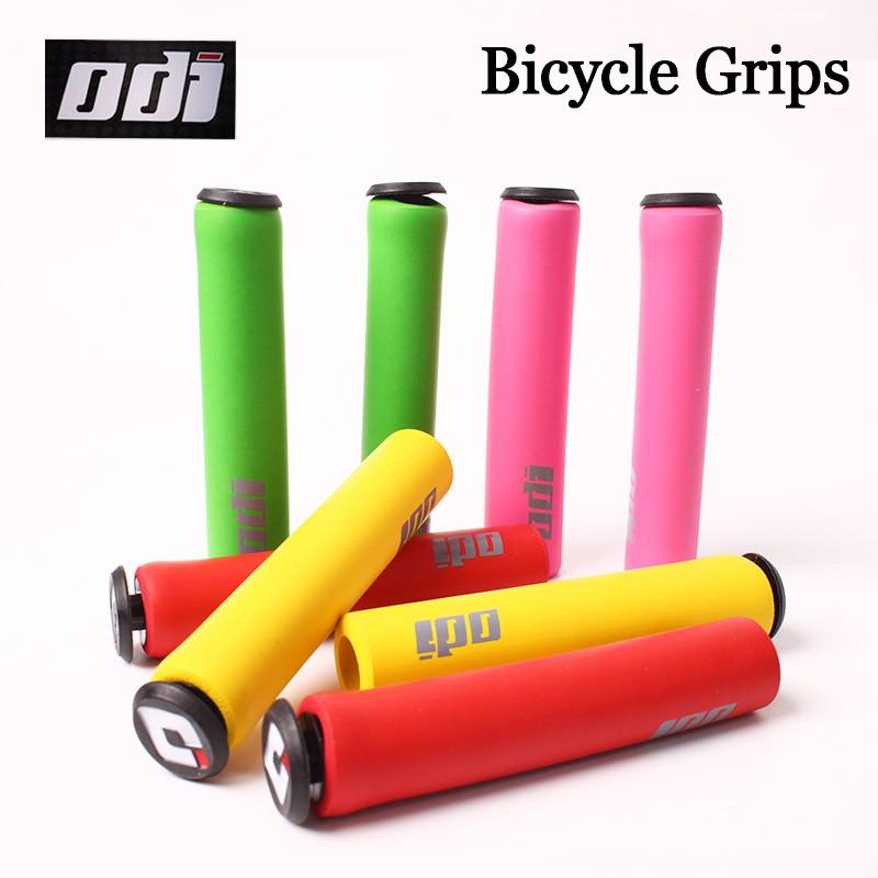 1 Pair ODI Mountain Bike Handle Bar Grips MTB Bicycle Silicone Grip Soft Bicycle Grips Balance Bike Riding Grip Cover