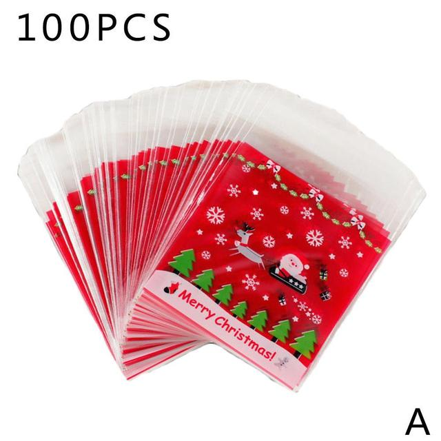 Transparent Cellophane Christmas Gift Bags (50)