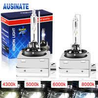 2Pcs D1S D3S Xenon HID Car Headlight Bulb Kit 12V 35W D1C D1R 4300K 5000K 6000K 8000K Headlight Lamp with Metal Bracket Protect