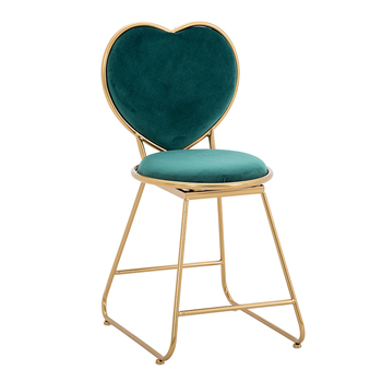 Modern Simple Girl Princess Bedroom Make-up Chair Dresser Bench Small Chair Manicure Backrest Ins Nordic Net Red